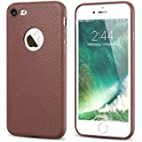 iPhone 6s Case, Enflamo® Original Textured Soft Silicone Slim Back Cover Case For Apple iPhone 6 & 6S (Brown)