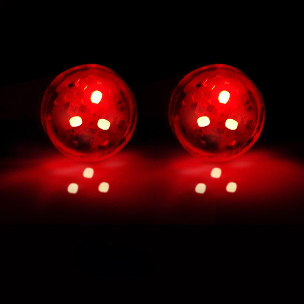 housesweet 2X Puerta de Coche Universal LED Abierto Advertencia Flash Kit de luz inalá mbrica Anti-colisió n