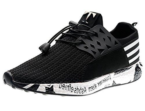 Hombre Gimnasio Zapatillas Hombre Zapatillas Hombre de Running Cordones negro Deportivas Zapatillas T IIIIS A17 en Hq7U4xU