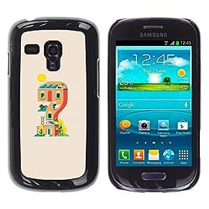 // PHONE CASE GIFT // Duro Estuche protector PC Cáscara Plástico Carcasa Funda Hard Protective Case for Samsung Galaxy S3 MINI 8190 / Mario Game House /