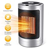 Space Heater, 750W/1500W Personal Heater Fan - Ceramic Electric Heater for Home/Office/Bedroom with Overheat Protection, Small Desk Heater