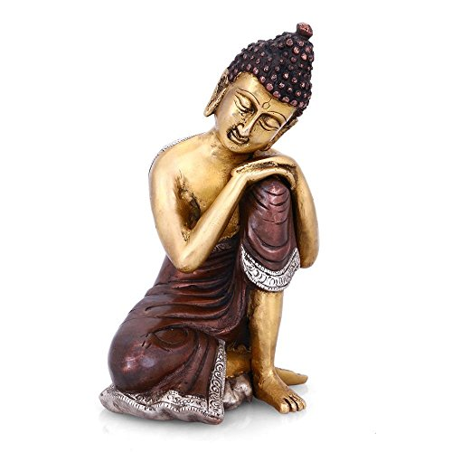 AapnoCraft Thai Buddha Statue Buddhist figurine Resting Buddha Sculpture Showpiece Home & Office Decorartionre (7.5 Inch) by AapnoCraft