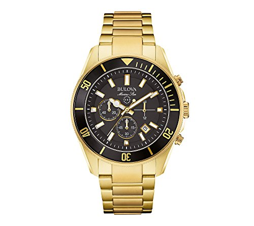 Bulova-Mens-Black-Dial-Watch