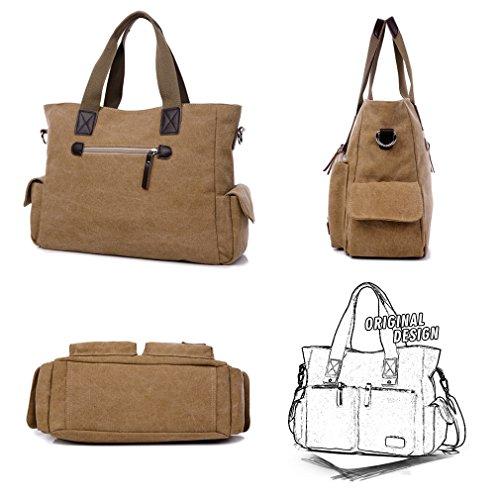 Khaki Purse Travel Handle Crossbody Handbags Top Satchel Women Messenger Bag Work Shoulder Tolfe Tote qw6OSnP1