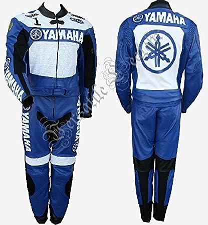 Amazon.es: Yamaha Azul y blanco, 2 traje chaqueta de piel ...