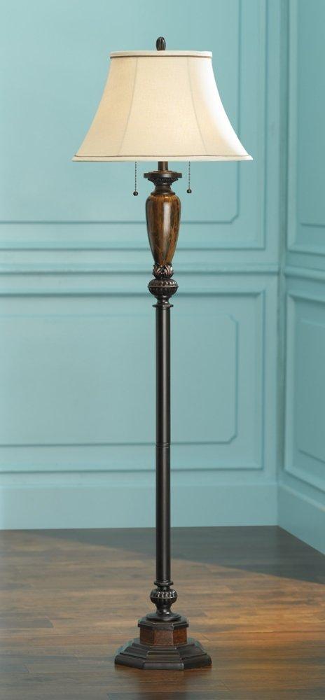 Kathy Ireland Sonnett 63 1/2″ High Twin Pull Floor Lamp