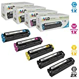LD Compatible Canon 118 Set of 5 Toner Cartridges Includes: 2 2662B001AA Black, 1 2661B001AA Cyan, 1 2660B001AA Magenta, and 1 2659B001AA Yellow