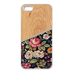 Wood And Flowers Fashion Comstom Plastic Case For Ipod Touch 5 Cover