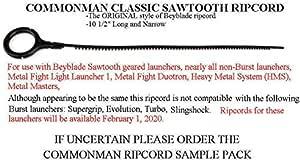 "BEYBLADE RIPCORDS Burst Narrow//Sawtooth 10 1//2/"" ORIGINAL design Metal Fusion"