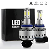 All in One 100W 10000LM LED Headlight High/Low Beam Fog DRL Conversion Kit Light Bulbs 6000K White 9005 9006 H4 H7 H10 H11 (H11)