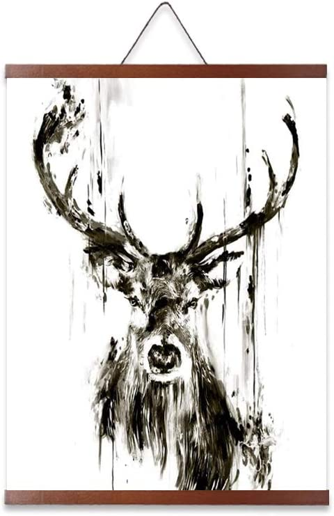 Deer Pictures Wall Decor Modern Abstract Animal Posters Prints Wall Art Canvas Painting Deer Pictures For Living Room Watercolor Wall Home Decoration Elk Wall Decor Nordic 16x24 inch Ready to Hung