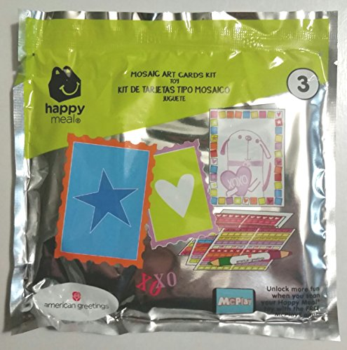 Price comparison product image McDonalds American Greeting Mosaic Art Cards Kit #3 happy meal 2018