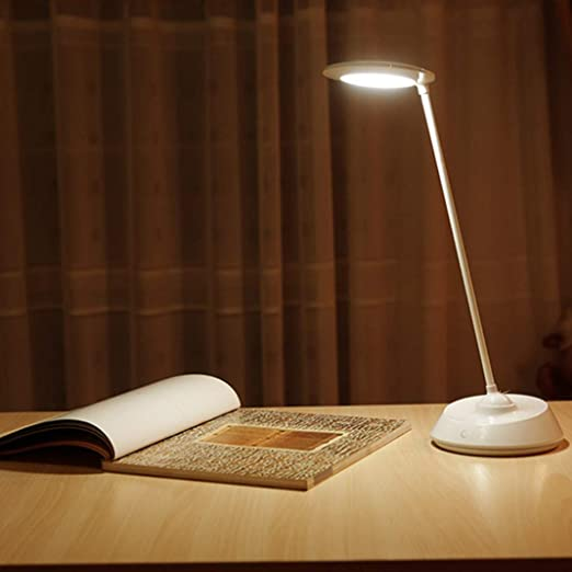 Lámpara de mesa giratoria creativa de 360 grados que aprende a ...