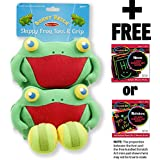 Skippy Frog Toss & Grip Action Game: Sunny Patch Outdoor Play Series + FREE Melissa & Doug Scratch Art Mini-Pad Bundle [66839]