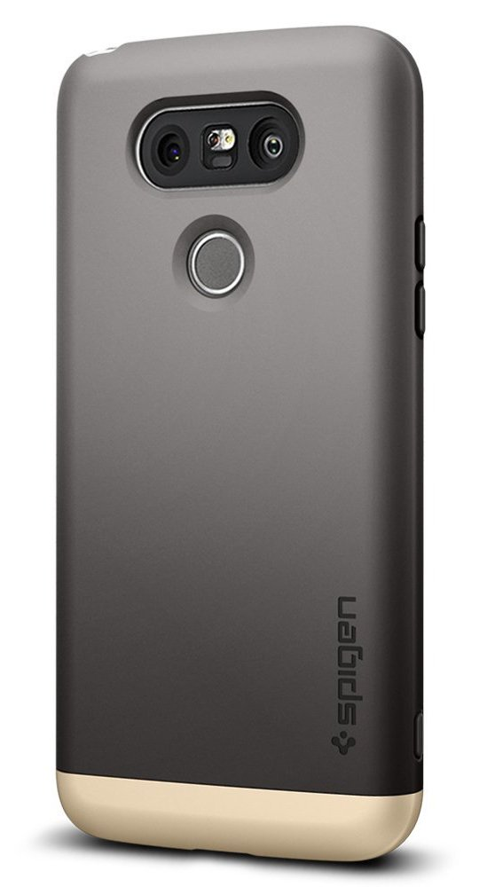 Spigen Style Armor LG G5 Case with Soft-Interior Scratch Protection for LG G5 2016 - Gunmetal
