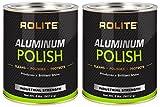 Rolite Aluminum Polish (2lb) for All Aluminum & Bare Metal Surfaces, Canoes, Jon Boats, Pontoons, Diamond Plate, Aluminum Non-Coated Wheels 2 Pack