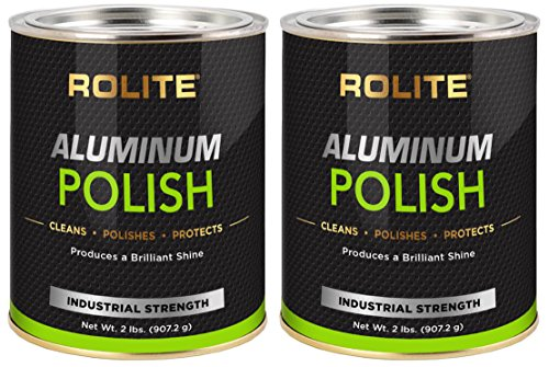 Rolite Aluminum Polish (2lb) for All Aluminum & Bare Metal Surfaces, Canoes, Jon Boats, Pontoons, Diamond Plate, Aluminum Non-Coated Wheels 2 Pack by Rolite (Image #1)