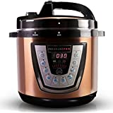 10-in-1 CopperTech PressurePro 6 Qt Pressure Cooker - Multi-Use Programmable Pressure Cooker, Slow Cooker, Rice Cooker, Steamer, Yogurt Maker, Sauté and Warmer - Copper