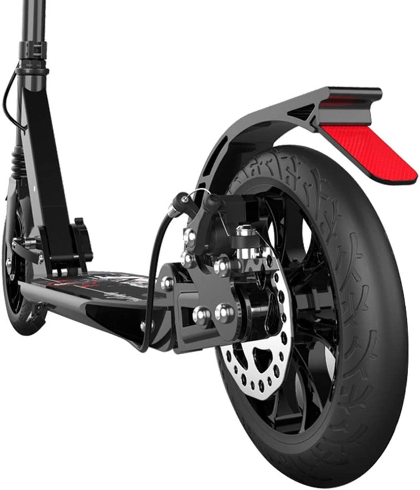 Details about  /Adult Folding Kick Scooter W// Dual Suspension,Hight-Adjustable 200mm Big Wheels