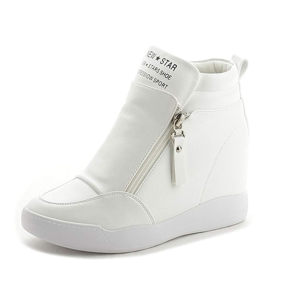 Frauen Frauen Frauen Schuhe Herbst Stiefel Mit Plattform Keilabsatz Damen Komfort Schuhe Mit Erhöhten Plattform Weibliche Kausalen Reißverschluss Stiefel 65ef0f
