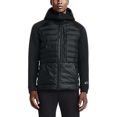 32cb02a489b6 NIKE Tech Fleece Aeroloft Jacket Men Windbreaker Black 678261 010 ...