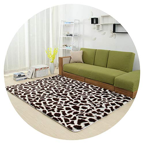 Thick Shaggy Large Size Carpets for Living Room Anti-Slip Bedroom Area Rug Home Decor Floor Mats Bedside Mats,Coffee,120X160cm