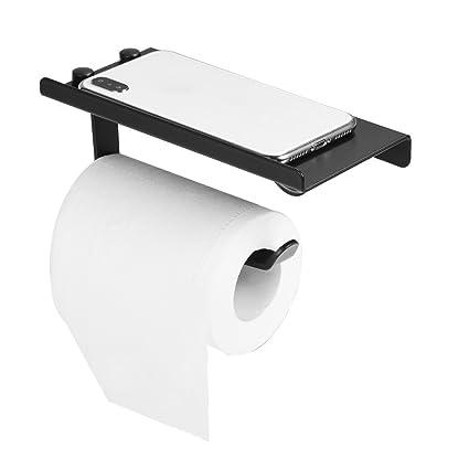 Titular de Papel Higiénico, Estilo Antiguo Negro Espacio de Aluminio Montado En La Pared Rollo