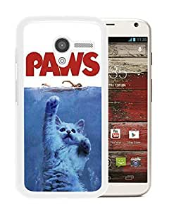 Jaws Paws White Abstract Personalized Picture Motorola Moto X Case