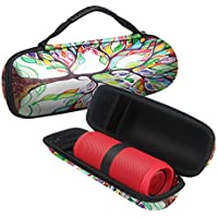 Fintie JBL Flip 4 Case - EVA Shockproof Hard Case Travel Carrying Storage Bag for JBL Flip4 / JBL Flip 3, UE BOOM 2 / UE BOOM Portable Bluetooth Speaker, Love Tree