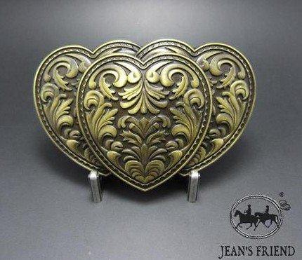 [belt buckles men western cowboys cool vintage harley hearts gold] (Heart Cool Belt Buckle)