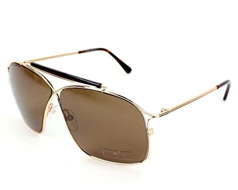 791ae7ebc27 Image Unavailable. Image not available for. Color  Tom Ford 0194 28J Gold  Tortosie Felix Aviator Sunglasses ...