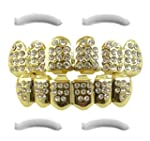 14K Gold Plated Iced Out Grillz with...