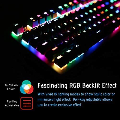 2020 BEJOY GM219 Mechanical Gaming Keyboard, Cherry MX Red ...