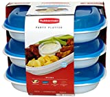 Rubbermaid Party Platter 3 Pack (Blue)