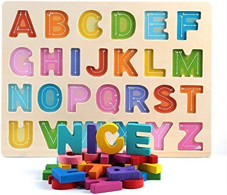Wooden Alphabet Puzzles, Preschool Educational Learning ...