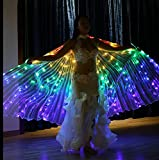 Women LED Belly Dance Isis Wings Angel Costume with