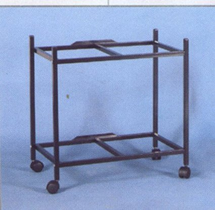 2-Shelf Stand for two of 24' x 16' x 16' Breeding Flight Cages, Black Mcage
