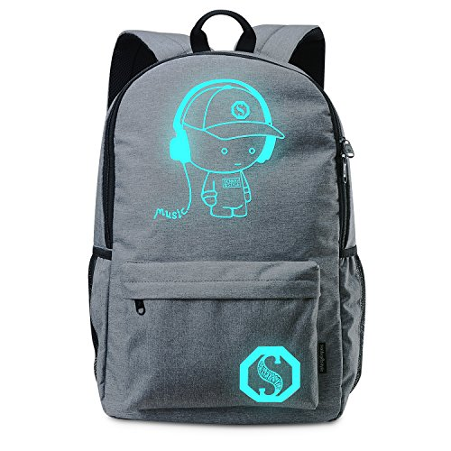 Lifeasy Anime Luminous Backpack Daypack Shoulder School Bag Laptop Bag (Music boy - Strap Target Baby With Sunglasses