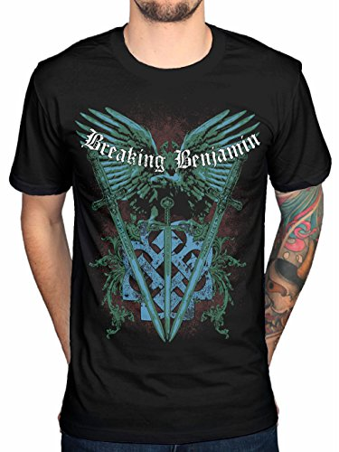 Rockstar Reo Men's Breaking Benjamin Swords & Eagle T-shirt (X-Large)