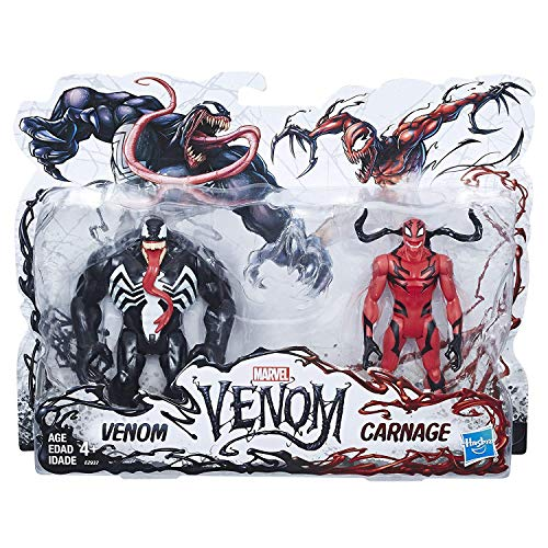 Venom 2 Pack Figurines: Venom & Carnage 6 Inch Scale, Multiple Points of Articulation Ages 4+ New in Unopened Box