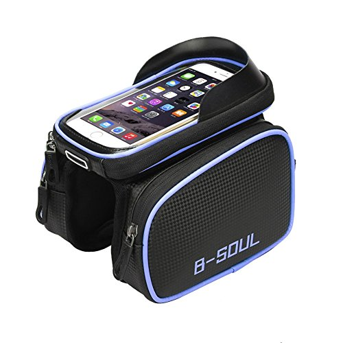 Cycling Bicycle Bike Handlebar Bag Phone Mount Holder For Cellphone Below 6 Inch Waterproof Front Frame Bags