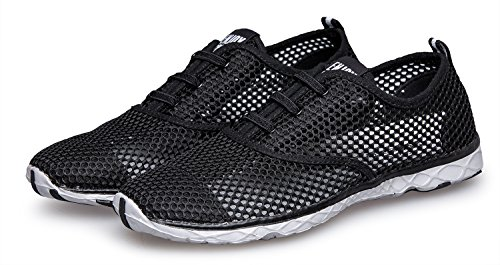 Zhuanglin Women's Mesh Slip On Water Shoes Size 11 B(M) US BlackGrey by Zhuanglin (Image #8)