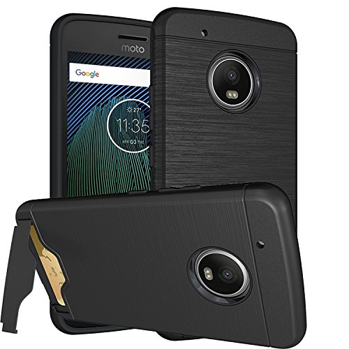 Series Media Wallet - Moto G5 Plus Case Hidden Back Wallet Case,With Kickstand Phone case Slim Ultra Shockproof Hybrid Protector Case Shell ,Stand Protective Cover for Motorola Moto G5 Plus Black