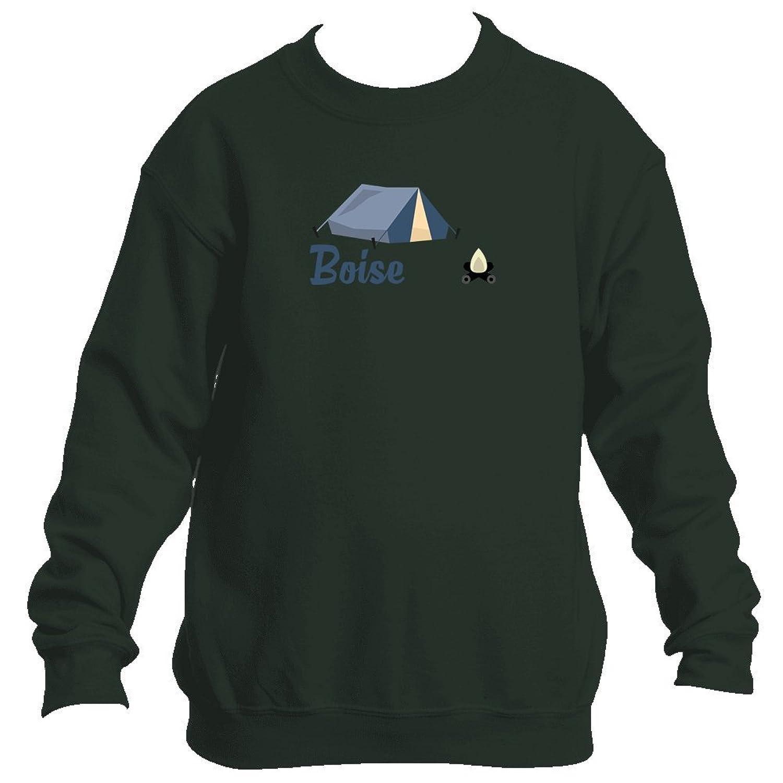 Cheap Boise Camping & Camp Fire - Idaho Youth Fleece Crew Sweatshirt - Unisex supplier
