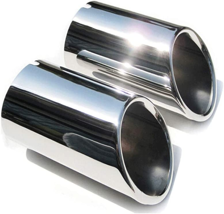 Stainless Steel End Tip Pipe Exhaust Pipes Cover For Audi Q3 2012-2017