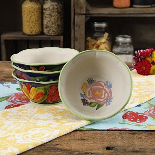 The Pioneer Woman Celia Blue 6.75-Inch Bowls, Set of 4 ()