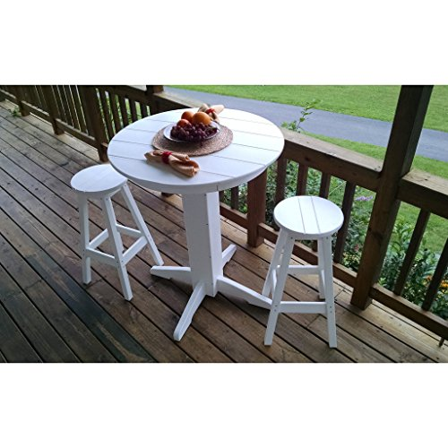 A & L Furniture Recycled Plastic 3 Piece Bar Set with 33