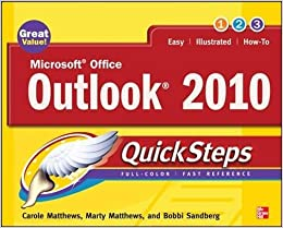Microsoft Office Outlook 2010 QuickSteps Mobi Download Book