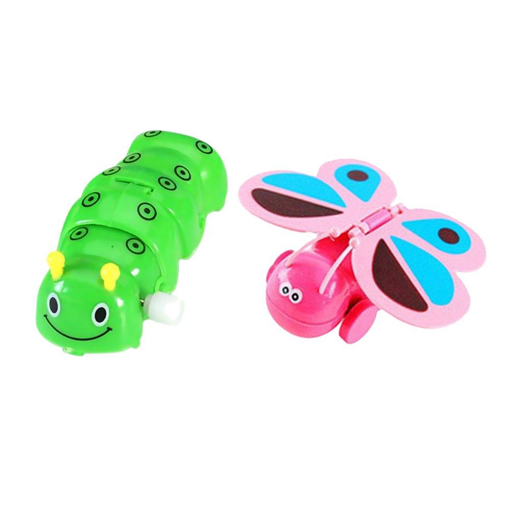 Homyl Kids Animal Figure Caterpillar & Butterfly Model Wind Up Toy Clockwork Gifts