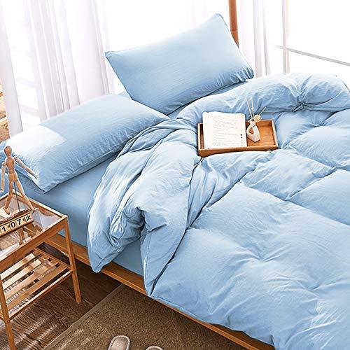 Fine Cotton Duvet Cover Bed Sheet Plain